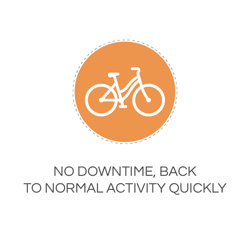 no downtime, back to normal activity quickly